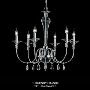 L 14019/6 CR, Luxury Chandelier from Italy