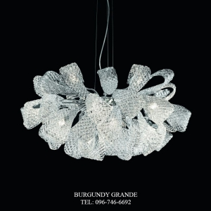 400/21, Luxury Blown Glass Chandelier from Italy