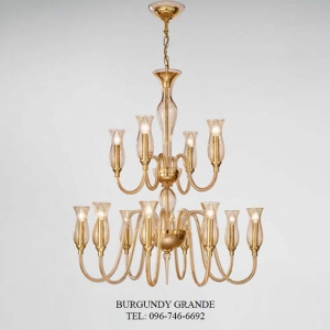 1020/8+4, Luxury Blown Glass Chandelier from Sylcom