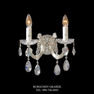 C-607/2, Luxury Crystal Wall Lamp from Spain