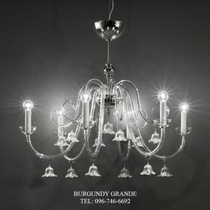 285/6, Luxury Classic Blown Grass Chandelier from Italy