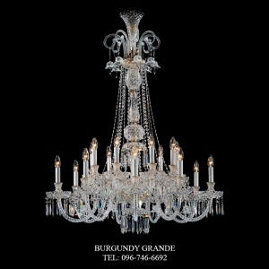 283/9+9, Luxury Classic Crystal Chandelier from Italy