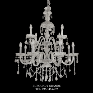 165/8+4 Clear, Luxury Classic CrystalChandelierfrom Italy