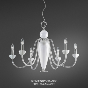 390/6, Luxury Classic Blown Grass Chandelier from Italy