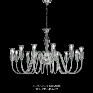 1020/12, Luxury Blown Glass Chandelier from Italy