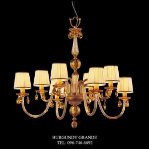 440/4+4, Luxury Classic Blown Grass Chandelierfrom Italy