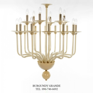 Atlanta 630142/12+6, Luxury Blown Glass Chandelier from Iris Crystal