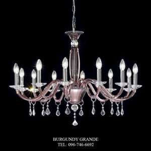 660/12, Luxury Classic Blown Grass Chandelier from Italy