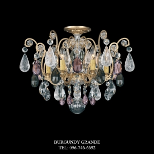Renaissance Rock Crystal 3584, Luxury Ceiling Lamp from America