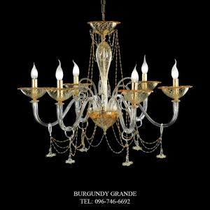 L 14092/6, Luxury Chandelier from Italy