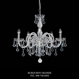 949/5, Luxury Blown Glass Chandelier from Sylcom