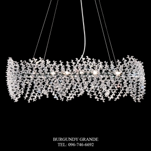 L 14218/10, Crystal Hanging Lamp from Italy