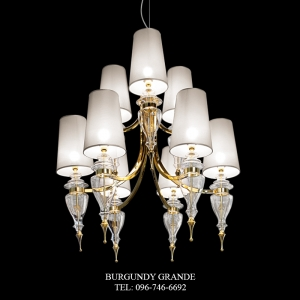 T410/6+3, Luxury Classic Blown Grass Chandelier from Italy