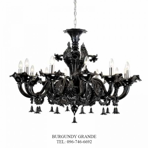 308/12, Luxury Blown Glass Chandelier from Sylcom