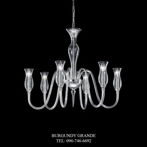 1020/6, Luxury Blown Glass Chandelier from Italy