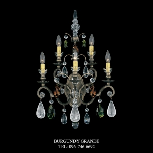 Renaissance Rock Crystal 3563, Luxury Wall Lamp from Schonbek