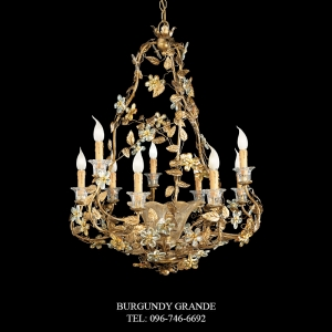 L 13898/9+1, Luxury Chandelier from Italy