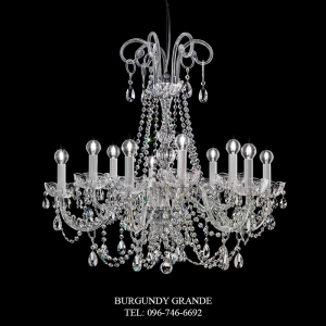262/5+5, Luxury Classic Crystal Chandelier from Italy